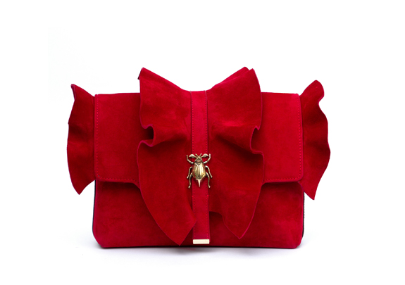 Beetle ruffles red