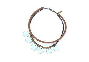 Coins light blue necklace